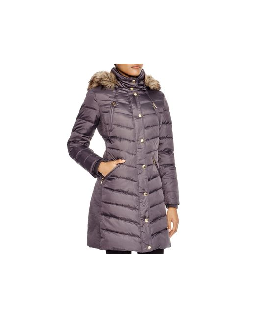 MICHAEL Michael Kors   Purple Coat - Ruched   Lyst
