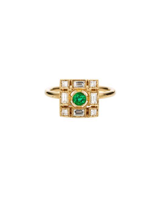 Sabine G   Green Harlequin Diamond Lozenge Ring   Lyst