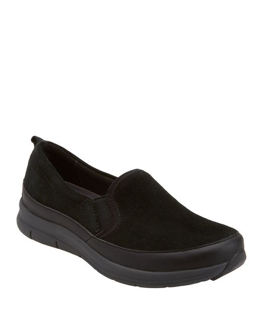 Easy Spirit | Black Sammi Slip-on Suede Sneakers | Lyst