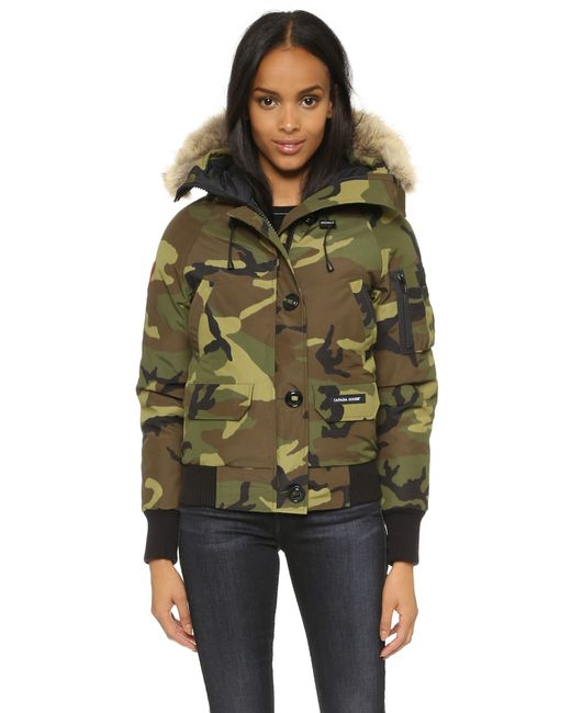 Canada Goose   Green Chilliwack Down-filled Bomber Jacket   Lyst