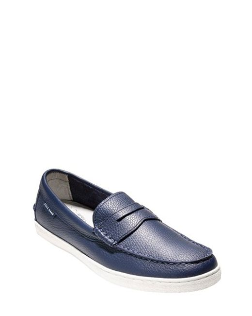 Cole Haan | Blue 'pinch' Penny Loafer for Men | Lyst