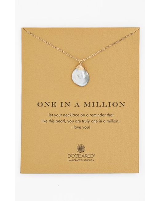 Dogeared | White 'one In A Million' Keshi Pearl Necklace | Lyst