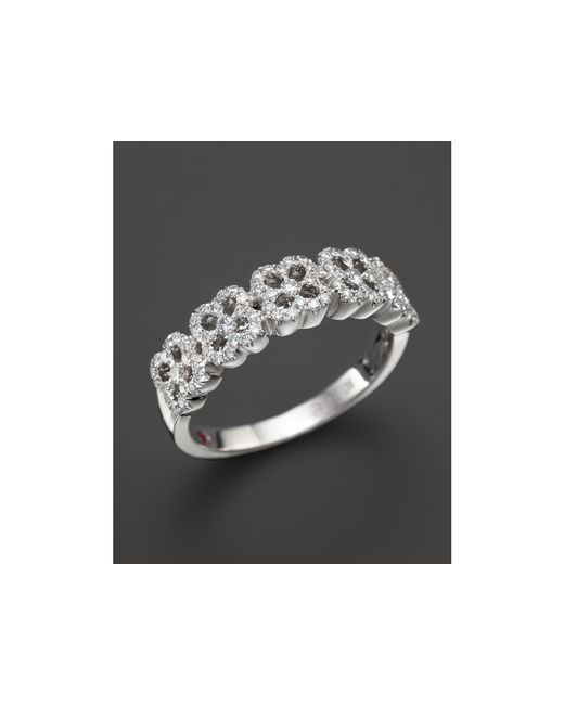 Roberto Coin | 18k White Gold Pave Diamond Ring | Lyst