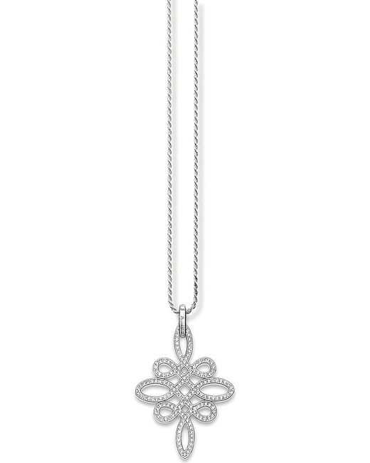 Thomas Sabo | Metallic Glam & Soul Love Knot Sterling Silver Necklace | Lyst