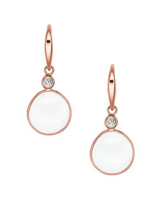 Skagen   Pink Skj0590791 Ladies Earrings   Lyst