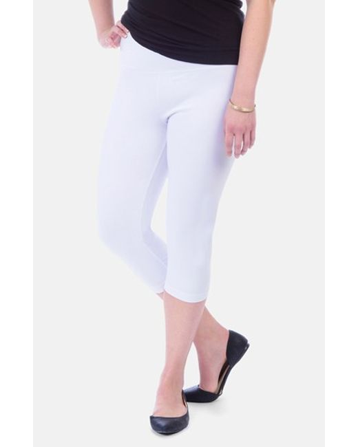 Lyssé | White Control Top Capri Leggings | Lyst