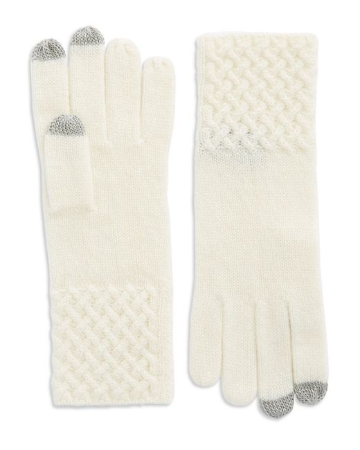 Lord & Taylor | Natural Knit Cuff Cashmere Gloves | Lyst