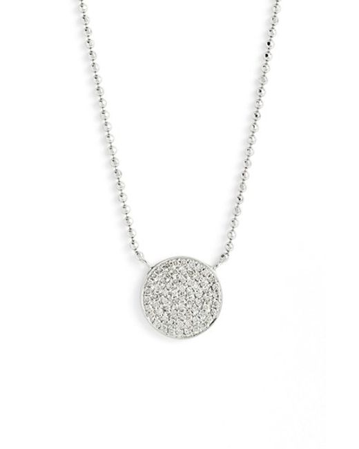 Bony Levy | Gray 'aurora' Diamond Pave Circle Pendant Necklace (nordstrom Exclusive) | Lyst