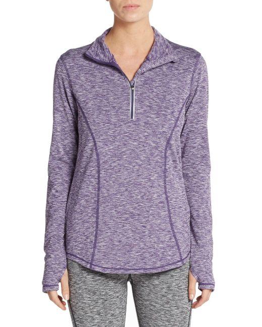 Saks Fifth Avenue   Purple Space-dye Stretch Knit Top   Lyst