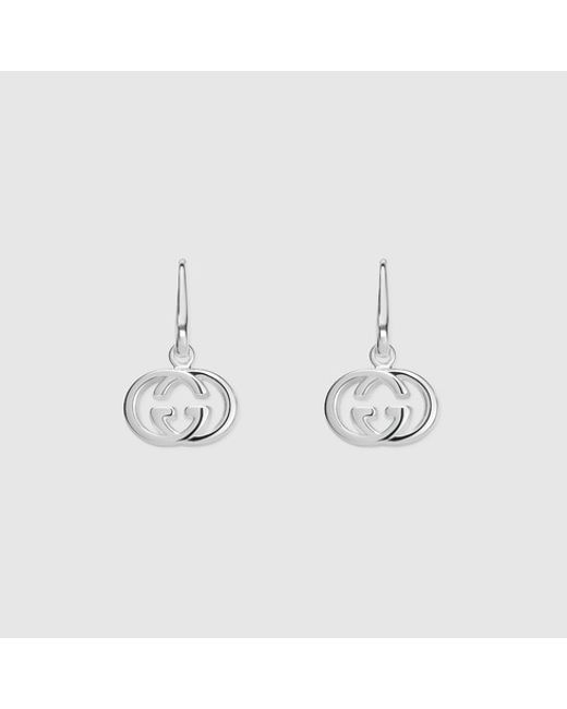 Gucci | Metallic Earrings With Interlocking G | Lyst