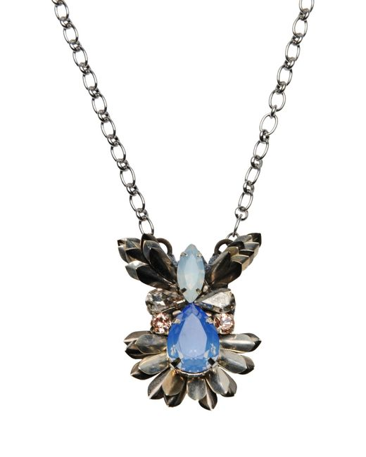 Deepa Gurnani   Metallic Necklace   Lyst