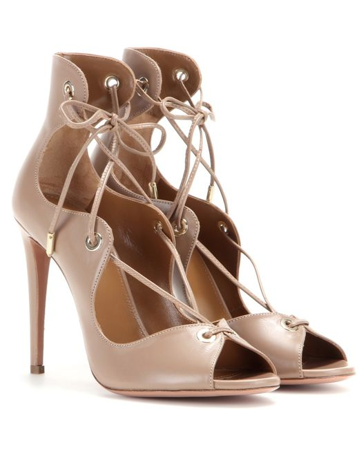 Aquazzura | Brown Biscotto Tango Sandal | Lyst