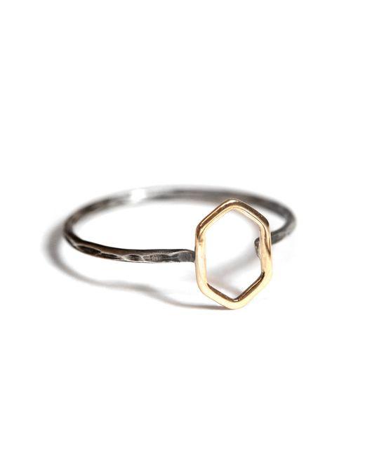 Melissa Joy Manning | Metallic Diamond Shaped Gold Ring | Lyst