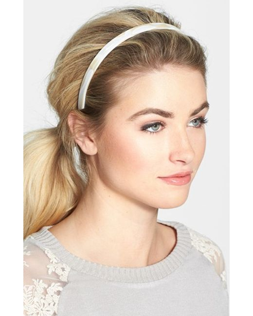 France Luxe | White Skinny Headband | Lyst