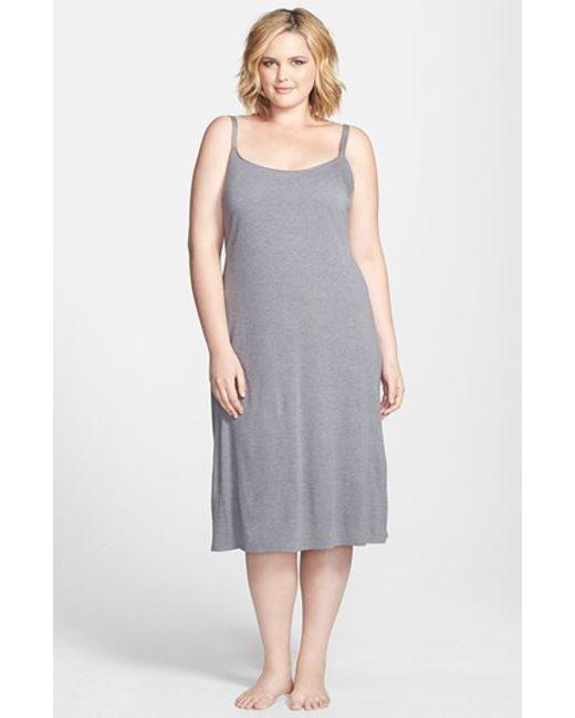 Natori | Gray 'shangri La' Nightgown | Lyst