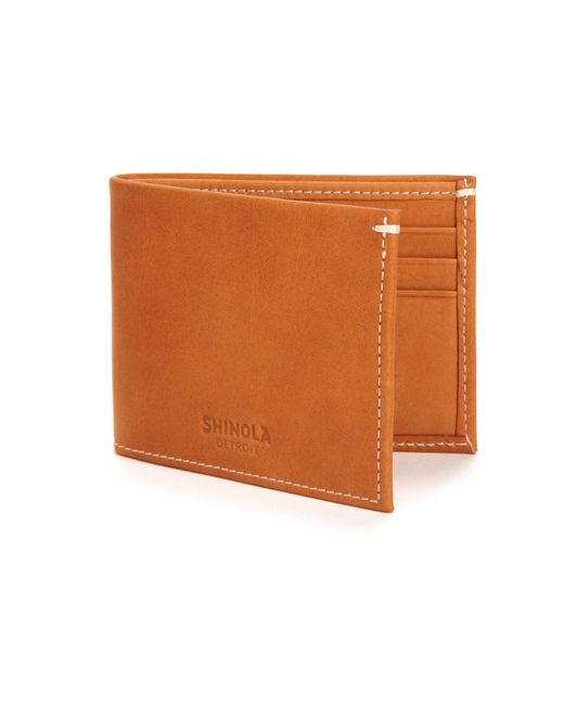 Shinola | Brown Leather Bifold Wallet for Men | Lyst