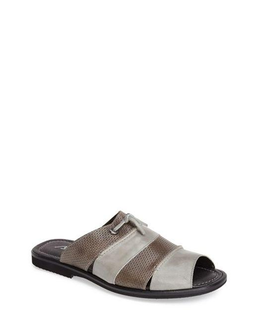 Bacco Bucci | Gray 'laguna' Slide Sandal for Men | Lyst