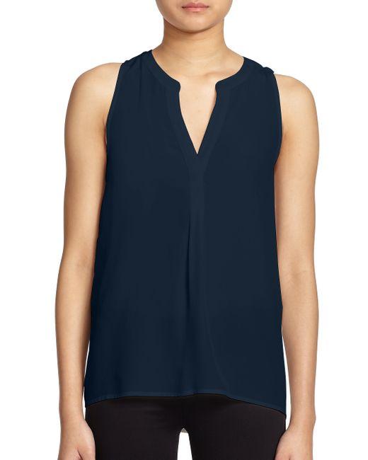 Joie | Blue Aruna Silk Sleeveless Blouse | Lyst