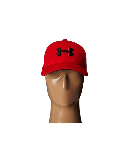 Under Armour   Red Ua Blitzing Ii Stretch Fit Cap for Men   Lyst