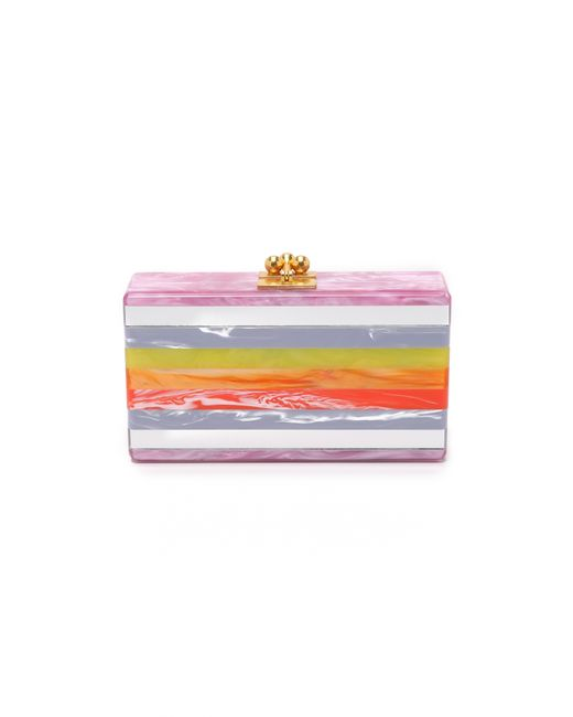 Edie Parker | Pink Jean Striped Clutch | Lyst