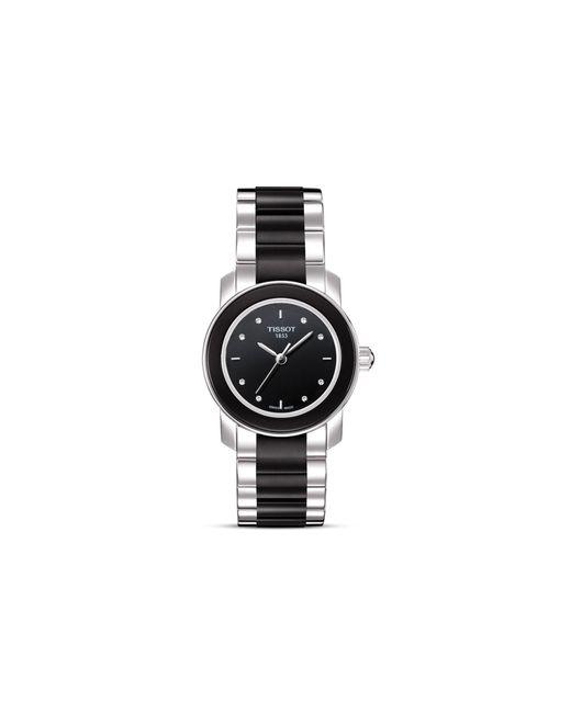 tissot cera womens black diamonds ceramic quartz watch