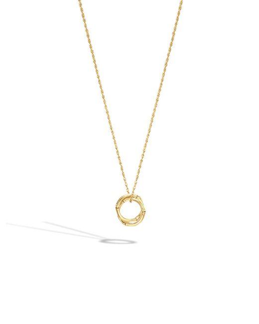 John Hardy | Metallic Bamboo Necklace | Lyst
