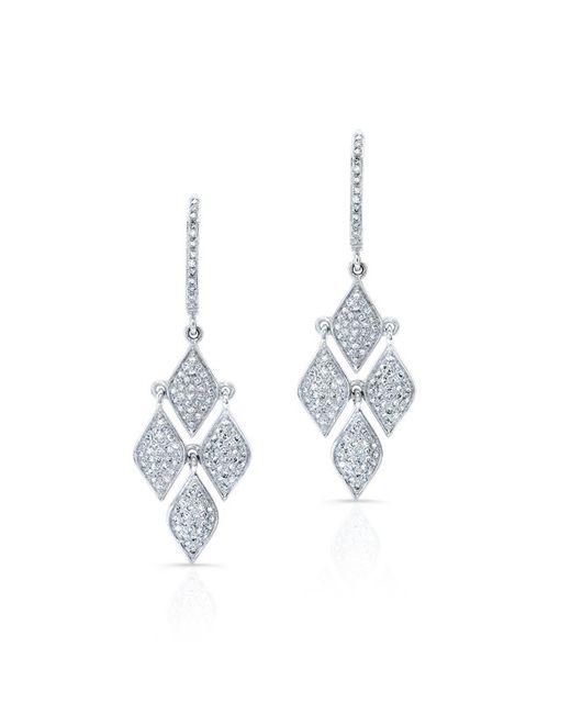 Anne Sisteron - Metallic 14kt White Gold Diamond Mini Marquis Earrings - Lyst