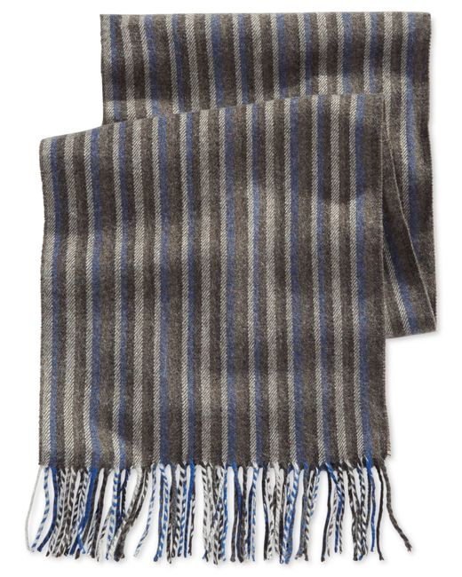alfani striped scarf only at macy s in blue for