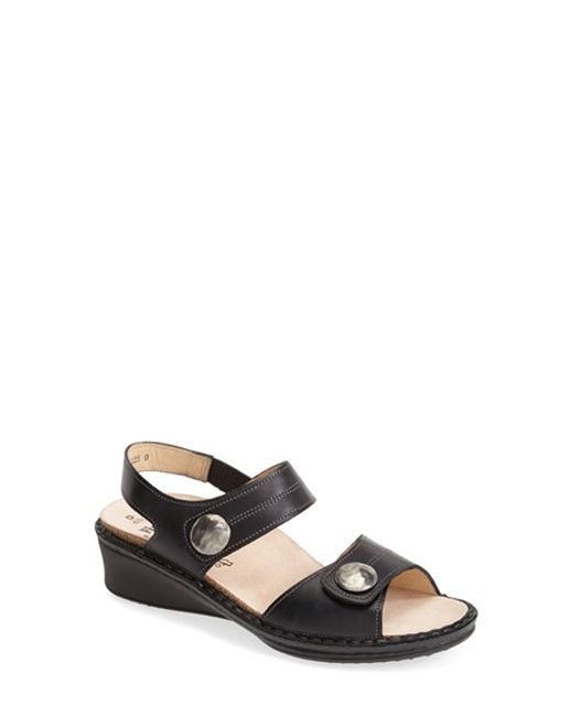 Finn Comfort | Black Women's Alanya Sandals | Lyst