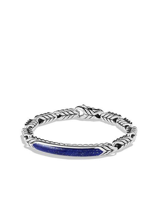David Yurman | Metallic Chevron Id Bracelet With Lapis Lazuli for Men | Lyst