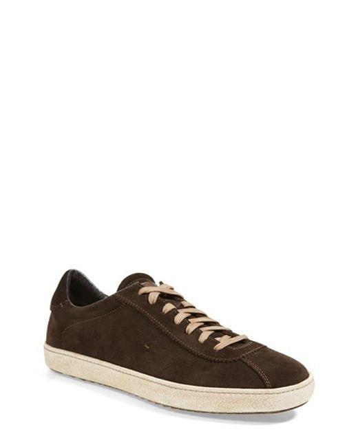 Santoni | Brown Escolar Suede Sneakers for Men | Lyst