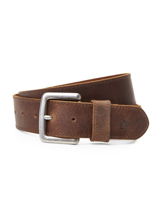 Timberland | Brown Oily Milled Belt for Men | Lyst