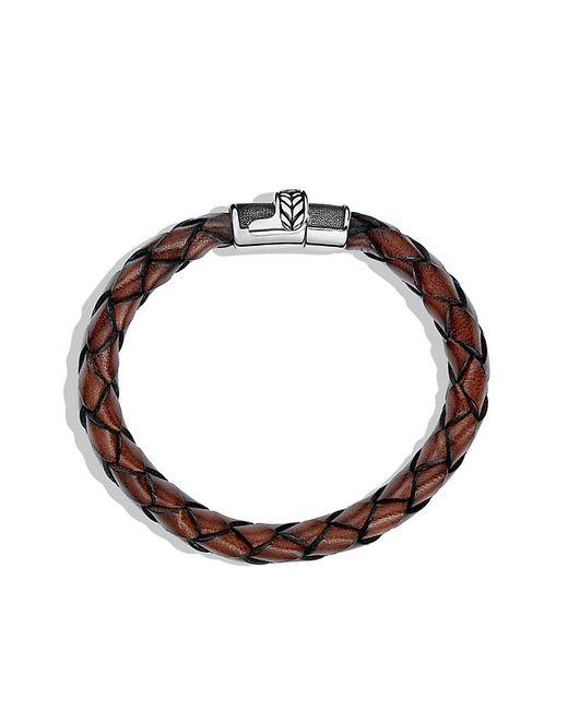 David Yurman   Chevron Bracelet In Brown Leather for Men   Lyst