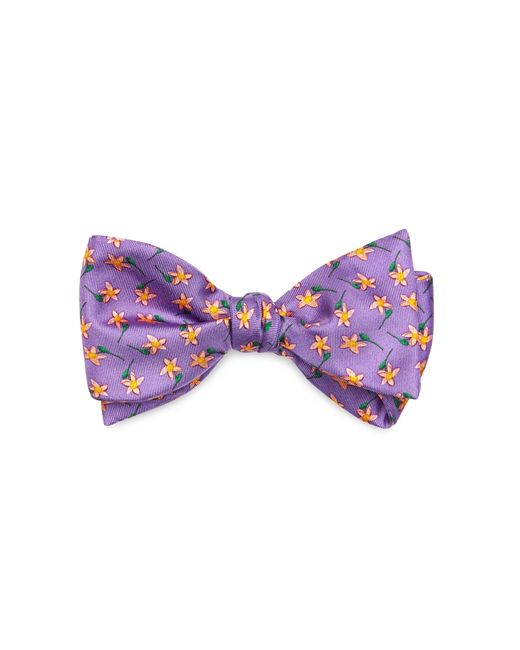 Brooks Brothers | Purple St Jude Floral Bow Tie for Men | Lyst