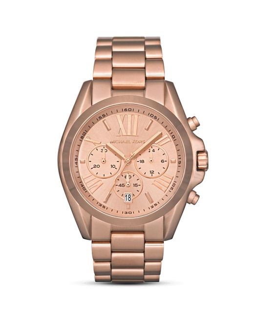 michael kors women 39 s rose gold tone watch 43mm in. Black Bedroom Furniture Sets. Home Design Ideas