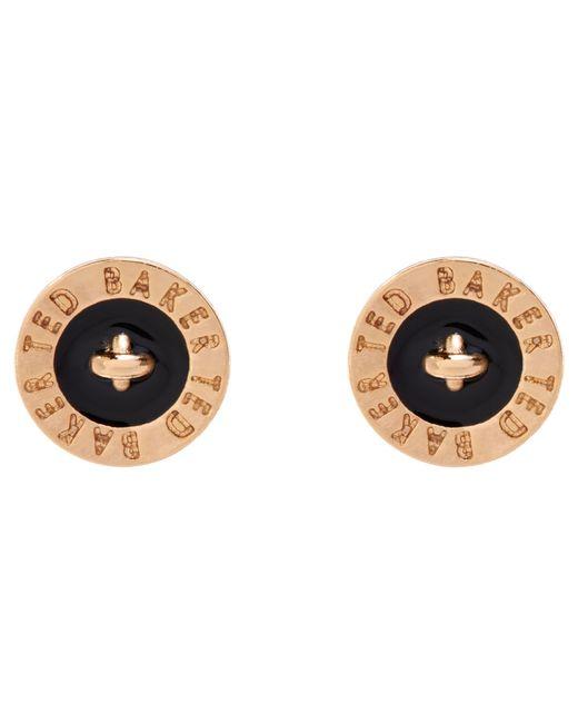 Ted Baker | Metallic Tempany Enamel Logo Stud Earrings | Lyst