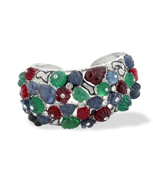 Kenneth Jay Lane | Multicolor Tutti Frutti Art Deco Cuff | Lyst