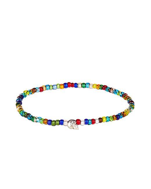 Luis Morais | Multicolor Bead And White-Gold Bracelet for Men | Lyst