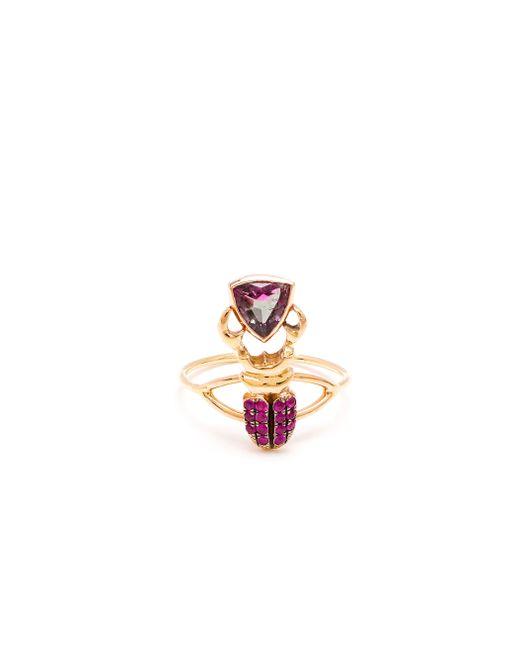 Daniela Villegas | Pink Kephri 18k Gold, Sapphire And Tourmaline Ring | Lyst