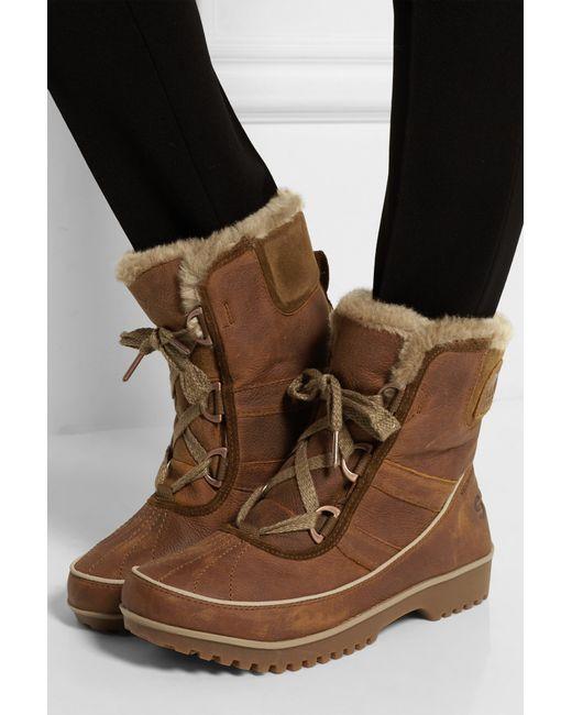 Lyst Sorel Tivoli Ii Premium Leather Amp Faux Fur Boots In