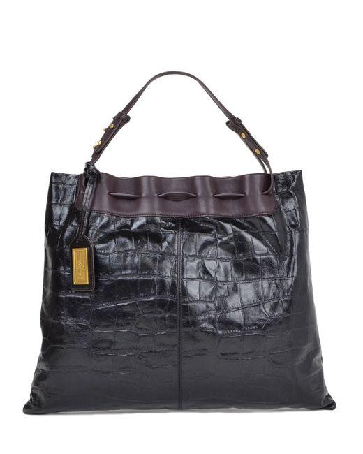 Badgley Mischka | Brown Adalyn Croco Handbag | Lyst