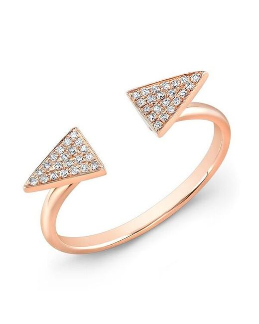 Anne Sisteron | Metallic 14kt Rose Gold Diamond Double Triangle Ring | Lyst