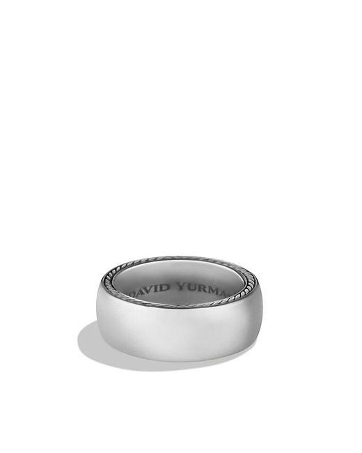 David Yurman | Streamline Wide Band Ring With Gray Titanium, 9mm for Men | Lyst