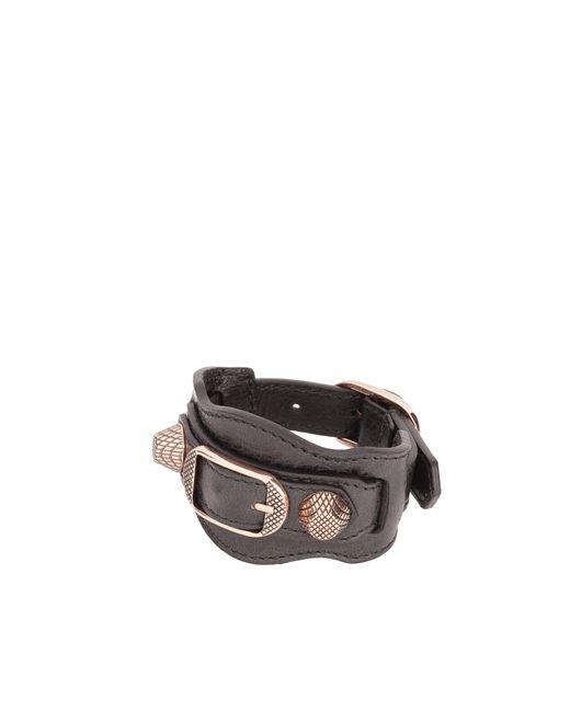 Balenciaga | Black Giant Gold Bracelet | Lyst