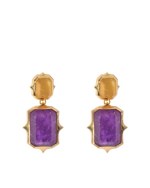 Isharya | Purple Pastel Rani Earrings | Lyst