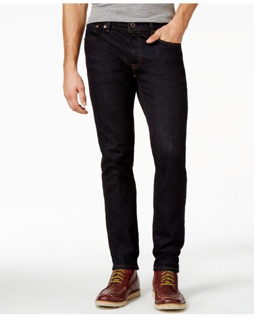 tommy hilfiger men 39 s slim fit black rinse jeans in blue. Black Bedroom Furniture Sets. Home Design Ideas