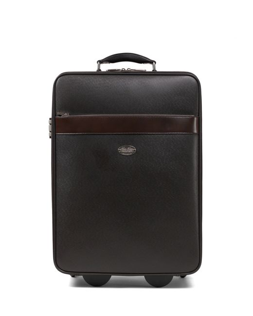 Brooks Brothers | Brown Small Leather Trolley | Lyst