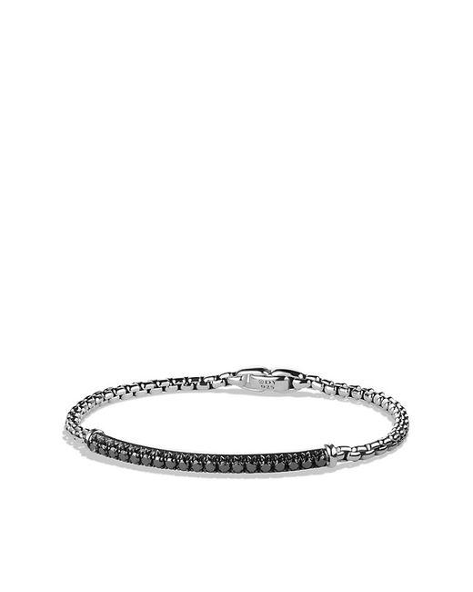 David Yurman   Pavé Box Chain Id Bracelet With Black Diamonds for Men   Lyst