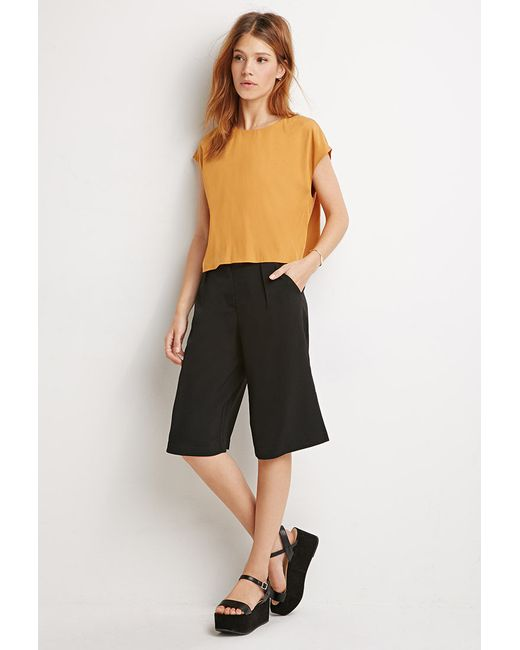Forever 21 | Orange Contemporary Boxy Cap-sleeved Top | Lyst