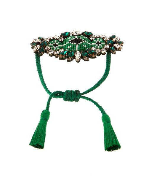 Shourouk   Green Bora Amerindien Bracelet   Lyst